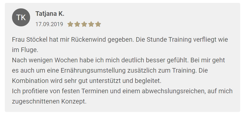 Kundenmeinung zum Training